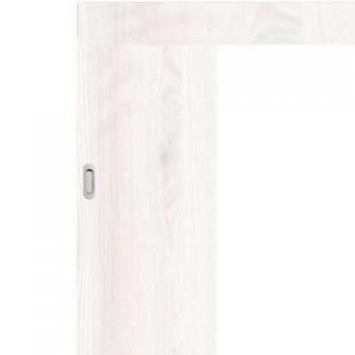 Posuvné dveře na stěnu skladem Plné hladké Bělená borovice 60/197
