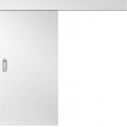 Posuvné dveře na stěnu skladem Plné hladké Bílý 80/197