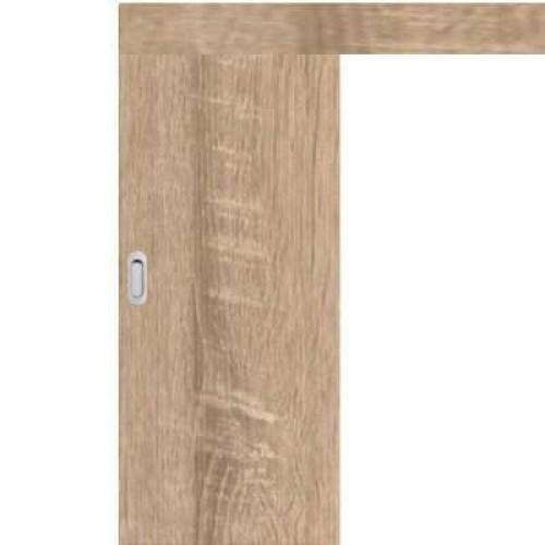Posuvné dveře na stěnu skladem Plné hladké Sonoma 60/197