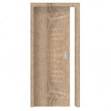 Posuvné dveře do pouzdra skladem Plné hladké Sonoma folie