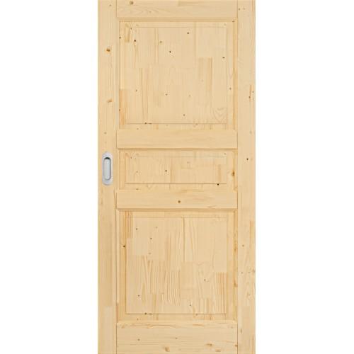 Posuvné dřevěné smrkové dveře do pouzdra Country